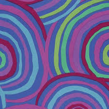 Backing Fabric - Kaffe Fassett - Circles - Green - QBGP002 - Bluex