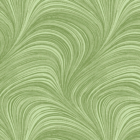 Backing Fabric - Wave Texture -  Green 2966-42