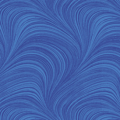 Backing Fabric - Wave Texture - Mid Blue 2966-52