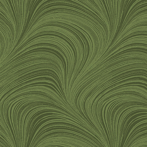 Backing Fabric - Wave Texture - Mid Green 2966-43