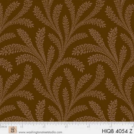 Backing Fabric - Historical - Brown WS4054Z