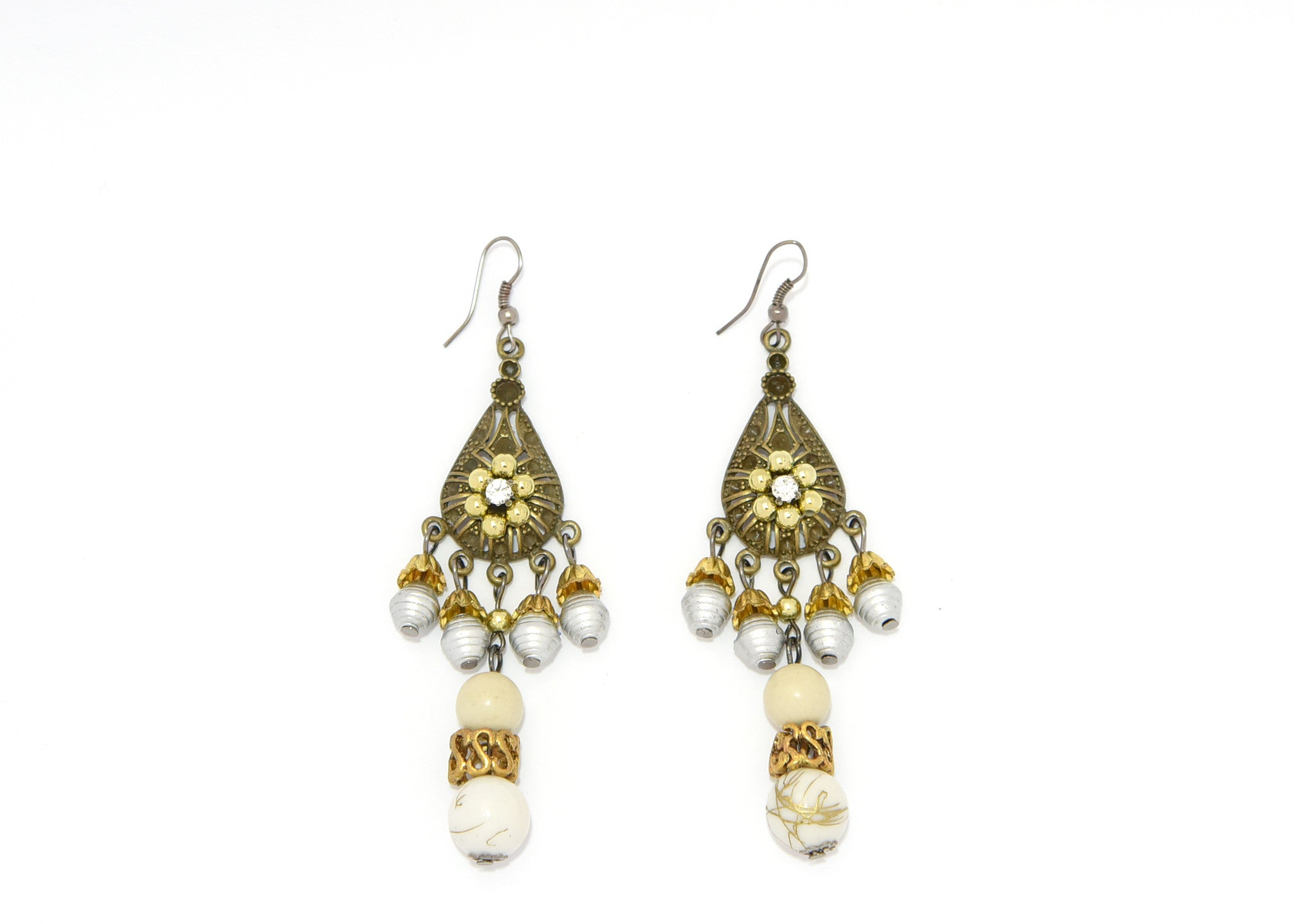 dangling p sequins marquise yellow earrings gold with
