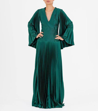 Pleated Satin Gown - John Paul Ataker