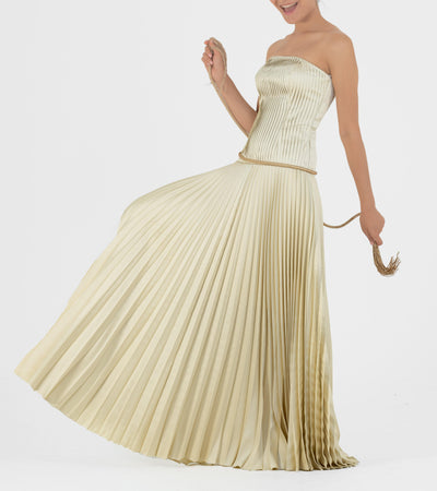 Pleated Taffeta Gown - John Paul Ataker