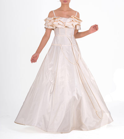 Ruffled Taffeta Gown - John Paul Ataker