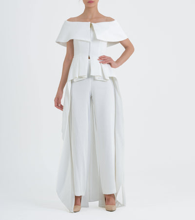 Structured Ribbed Jacquard Jacket And Pants - John Paul Ataker