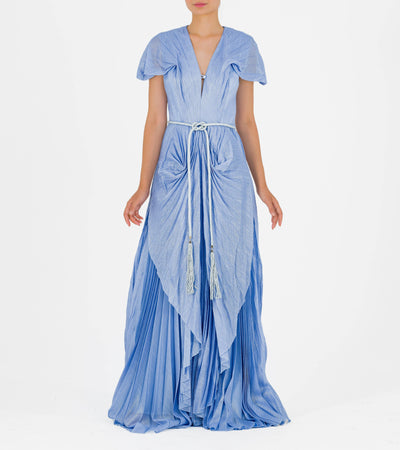 Pleated Long Gown - John Paul Ataker
