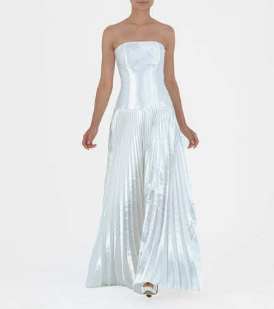 Pleated Satin Taffeta Gown - John Paul Ataker