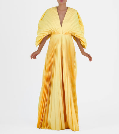 Structured Pleated Taffeta Gown - John Paul Ataker