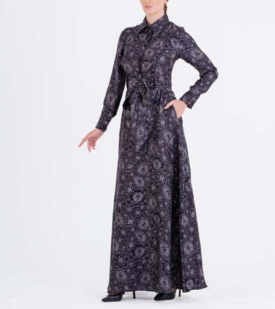 Jacquard Long Shirt Dress - John Paul Ataker