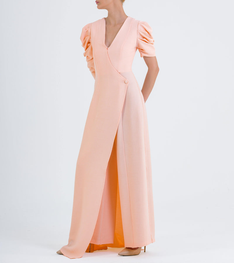 Structured Ribbed Jacquard Jumpsuit