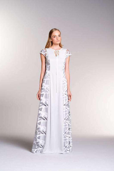 Paneled Viscose Maxi Dress - John Paul Ataker