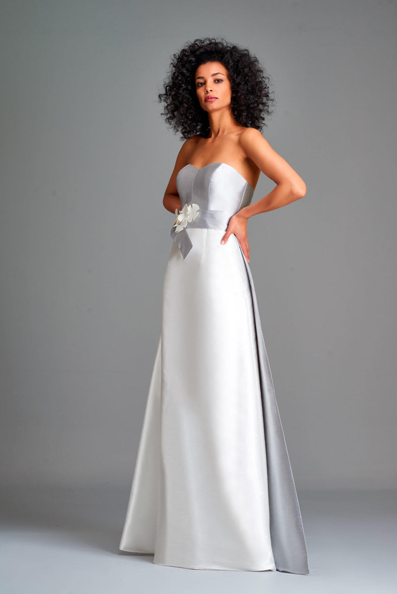 Two-toned taffeta gown