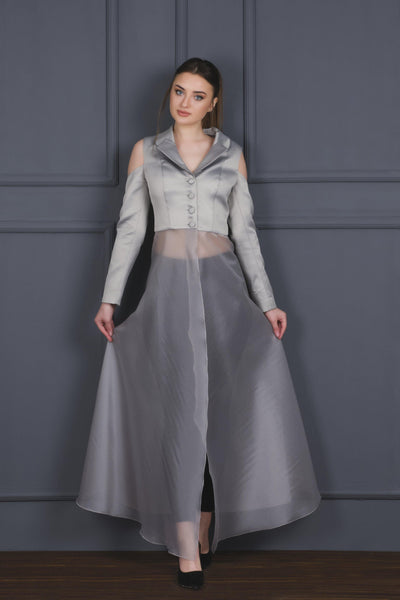 Organza and Jacquard Jacket - John Paul Ataker