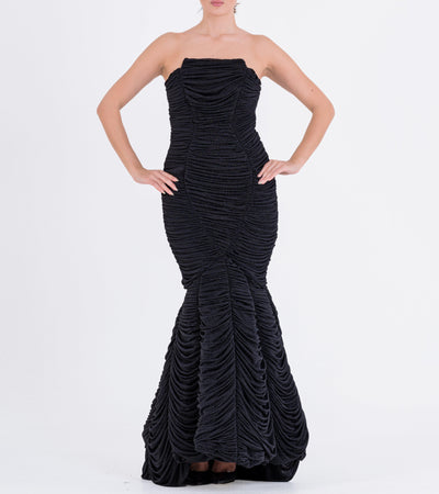 Draped Mesh Gown - John Paul Ataker
