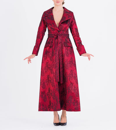 Lace Taffeta Trench Coat - John Paul Ataker