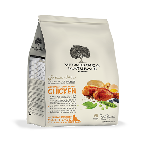 Vetalogica Naturals Grain Free Chicken Indoor Adult Cat Food 3kg