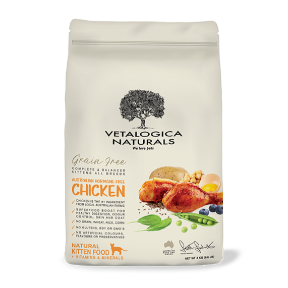 Vetalogica Naturals Grain Free Chicken Kitten Food 3kg
