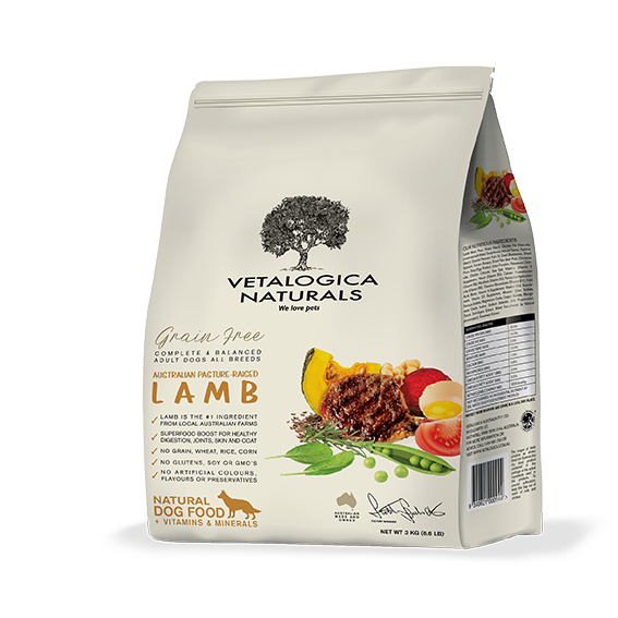 Vetalogica Naturals Grain Free Lamb Adult Dog Food