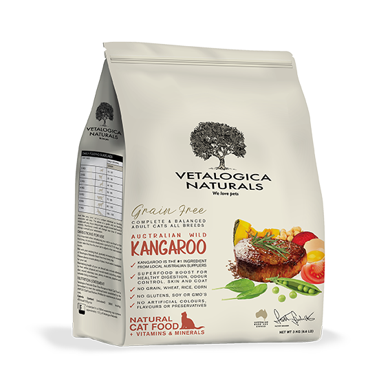 Vetalogica Naturals Grain Free Kangaroo Adult Cat Food 3kg