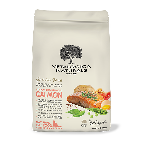 Vetalogica Naturals Grain Free Salmon Adult Cat Food 3kg