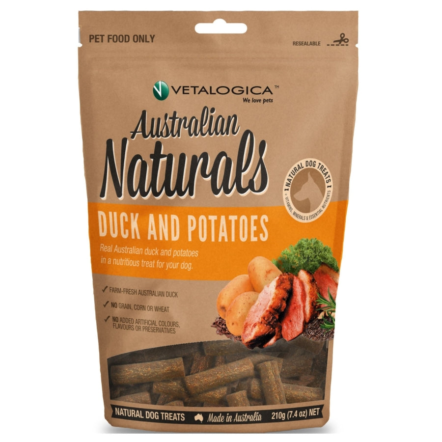Australian Naturals Duck and Potato Treats for Dogs 210g