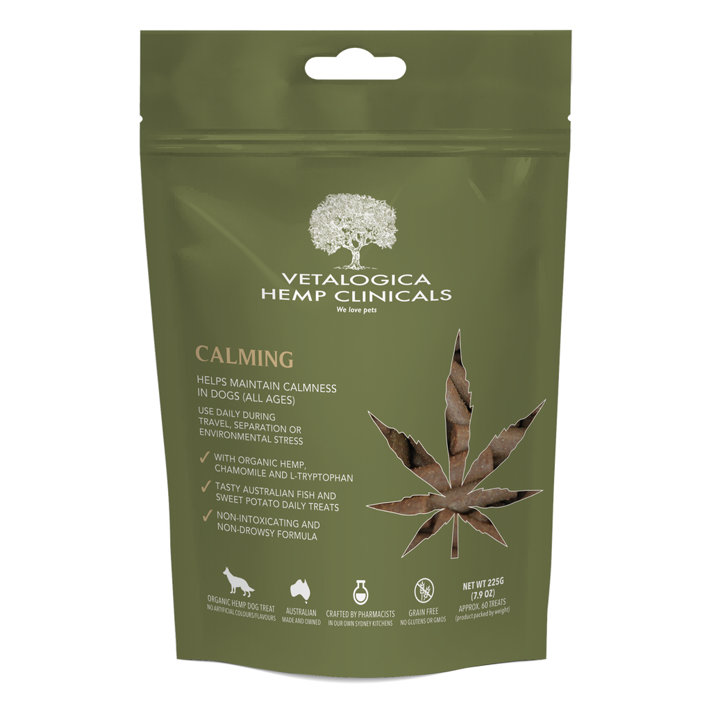Vetalogica Hemp Clinicals Calming Treats for Dogs 225g