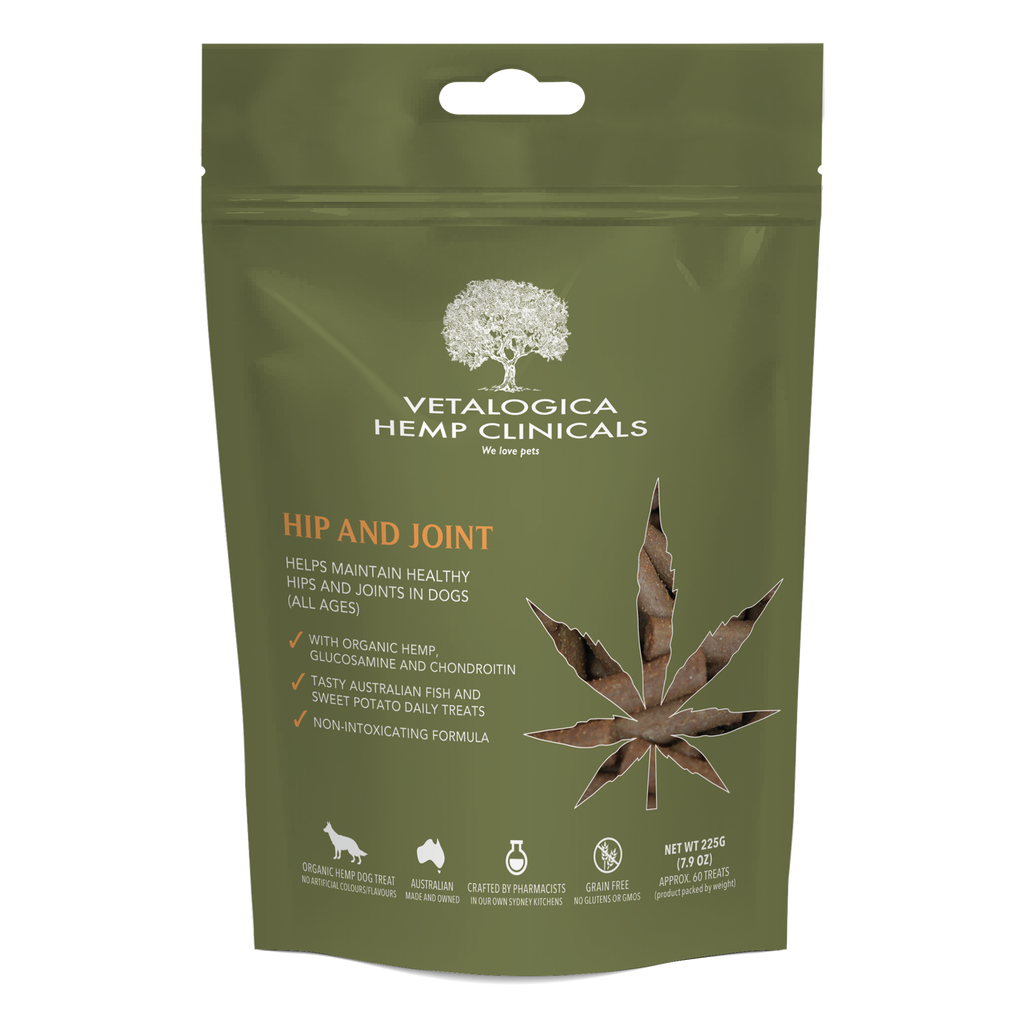 Vetalogica Hemp Clinicals Hip and Joint Treats for Dogs 225g