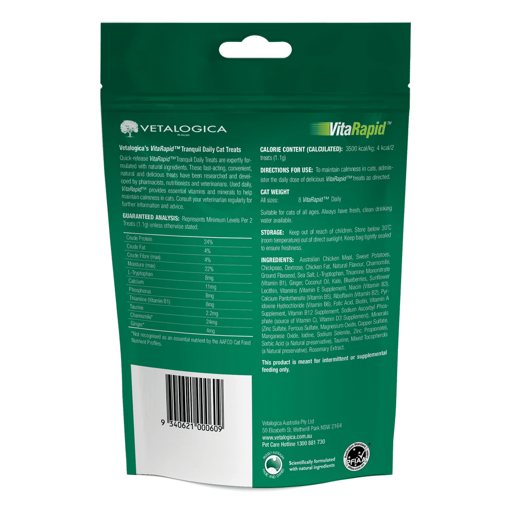 VitaRapid® Tranquil Daily Treats For Cats 100g