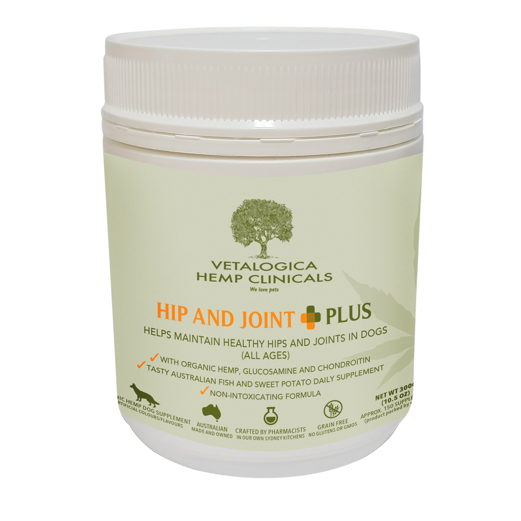 Vetalogica Hemp Clinicals Hip & Joint Plus Supplements for Dogs 300g