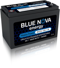 BlueNova LiFePO4 Lithium battery - BN13V-108-1.4k - 4x4 And More
