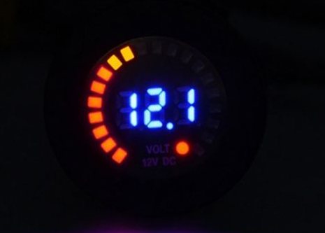 12v colorful voltmeter round - 4x4 And More