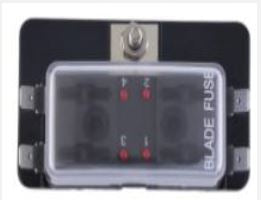 4 Way Fuse holder with LED - 4x4 And More