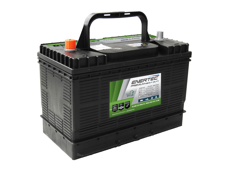 Deep Cycle Battery - ENERTEC 674D - LOW STOCK Check with us first - 4x4 And More