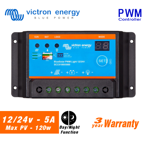 Victron BlueSolar PWM Solar Charge Controller 12/24V - 4x4 And More