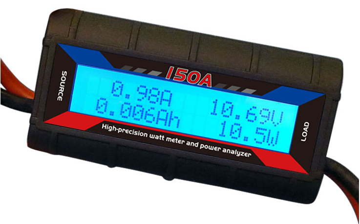 150A 60V DC Watt Meter & Power Analyzer with Backlight LCD Display - 4x4 And More