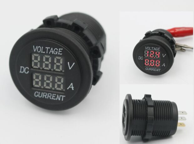 Volt meter and Amp meter - ROUND - 4x4 And More