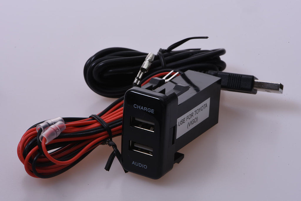 Toyota Hilux / Fortuner - Vigo shape USB AUDIO Extension - 4x4 And More