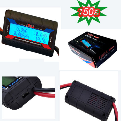 150A 60V DC Watt Meter & Power Analyzer with Backlight LCD Display 4x4andmore
