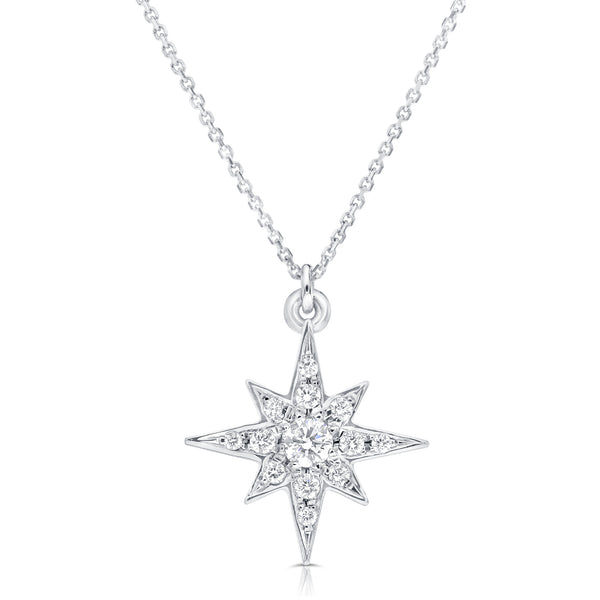 Copy of Butterfly Diamond necklace, 0.21ct diamond, 14K white gold-Diamond necklace-Diamond butterfly pendant-Gift for her - SevenCarat