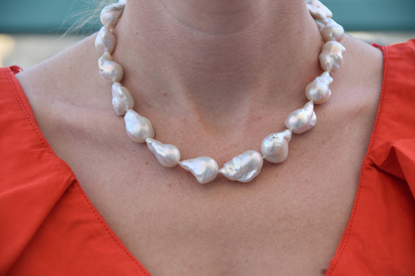 Pearl Necklace-Wedding necklace-Wedding Jewelry-Bridal Jewelry-Anniversary gift