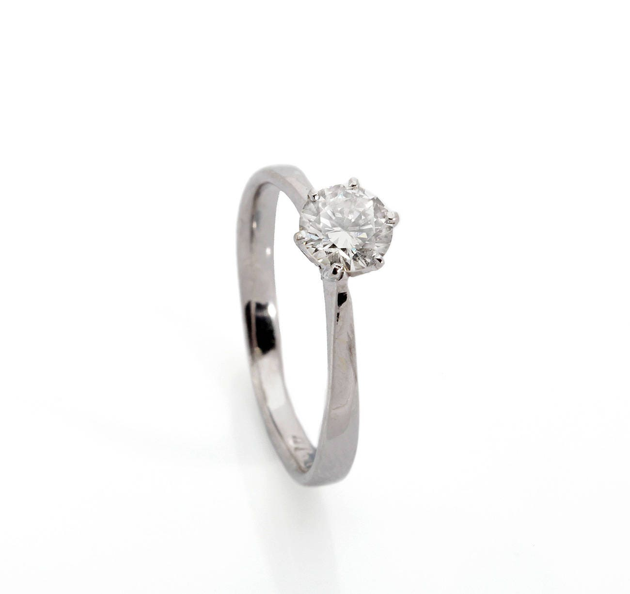 Solitaire ring-Diamond Engagement Ring-Solitaire diamond ring-14K White Gold-0.40 Carat - SevenCarat