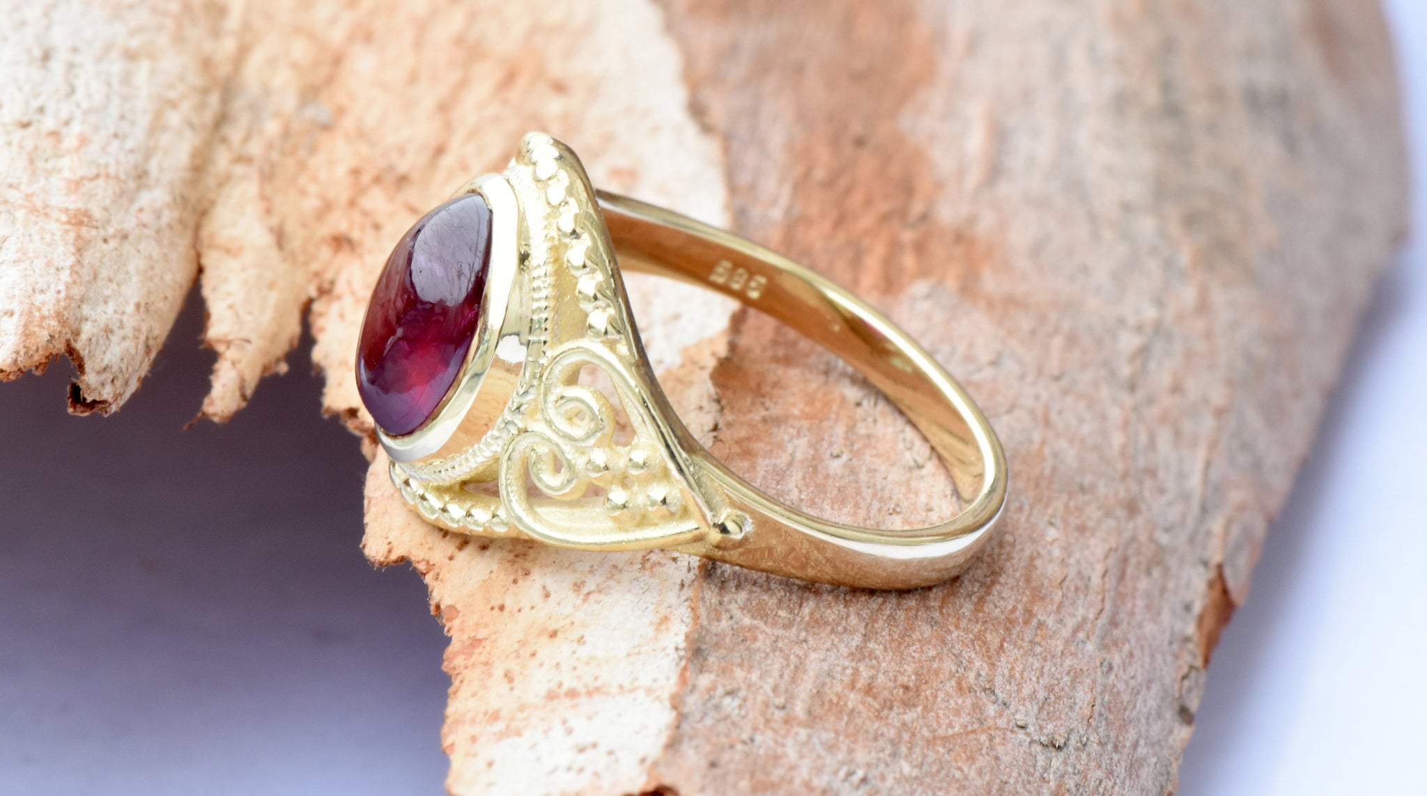 Ruby statement ring-Ruby ring-Art deco ring-Gold Ring-Women Jewelry - SevenCarat