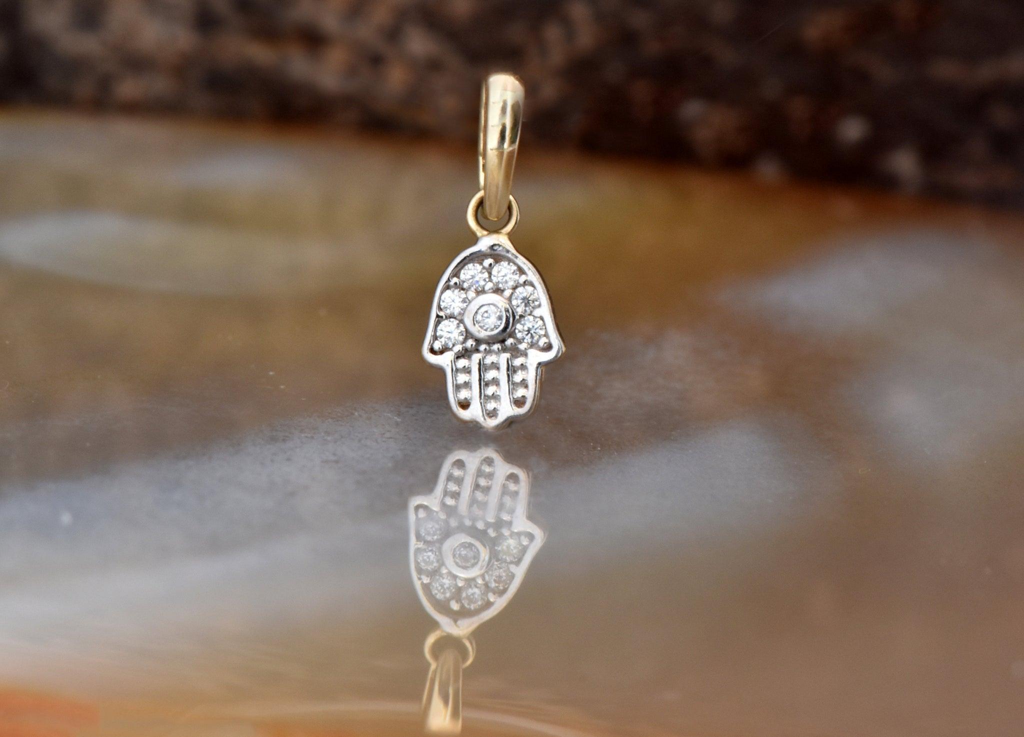 Hamsa Hand Necklace-Protection Necklace-Minimalist Jewelry-Graduation gift-Bat mitzvah gift - SevenCarat