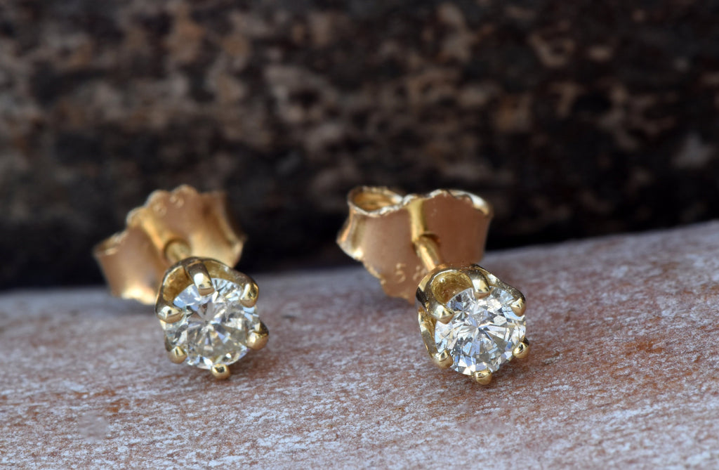 Diamond stud Earrings-Gold Earrings-Baby earring-Girls earrings-Earrings for him