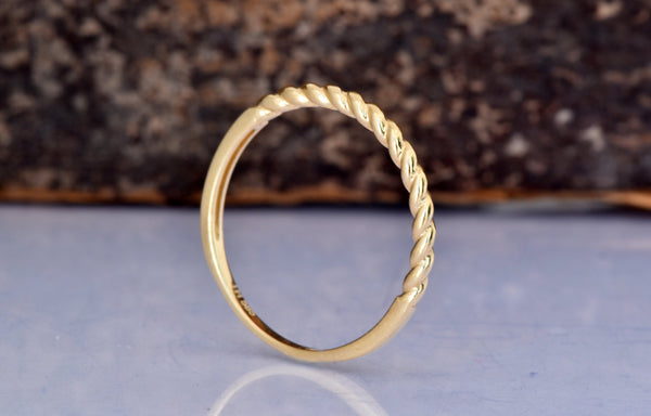 Delicate Wedding Bands for Women-Tiny ring-Delicate ring-Gold Ring-Dainty ring-Stacking ring-On sale - SevenCarat