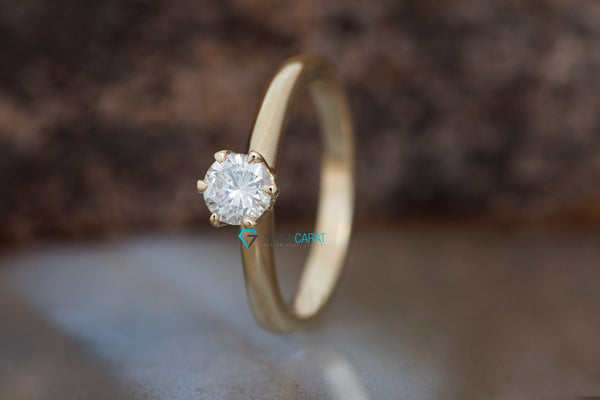 Classic round engagement ring-Solitaire diamond ring-Solitaire 6 prong-Solitaire ring 0.50 ct-on sale - SevenCarat