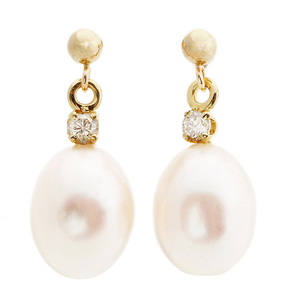Art deco-Pearl earrings studs-Pearl earrings bridesmaid-Pearl diamond earrings-Pearl jewelry - SevenCarat