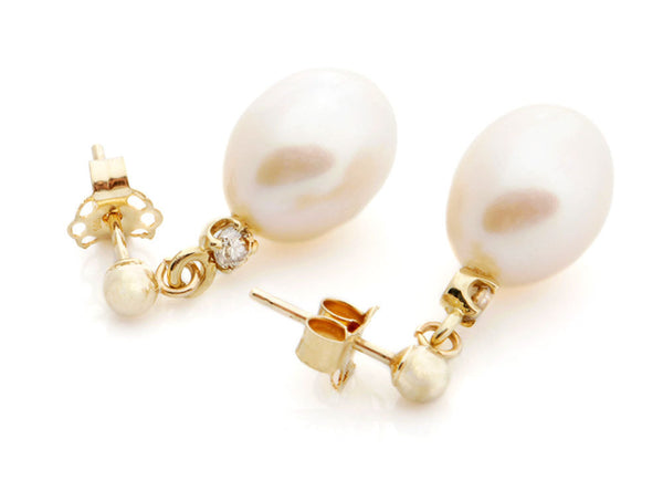 Art deco-Pearl earrings studs-Pearl earrings bridesmaid-Pearl diamond earrings-Pearl jewelry
