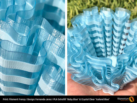 "PLA Crystal Clear ""Iceland Blue"""